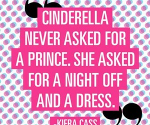 cinderella, dress, and quote image