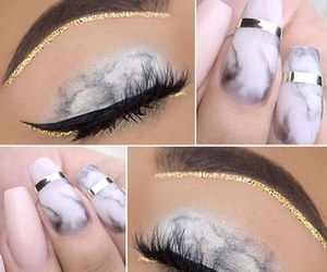eyebrow, lashes, and makeup image