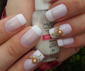 nails, colorama, and white image