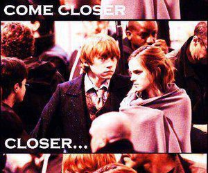 couple, harry potter, and hermione granger image
