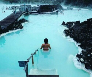 travel, blue, and iceland image