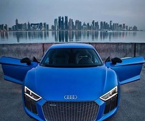audi, light, and blue car image