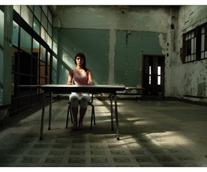 girl, lonely, and ruins image