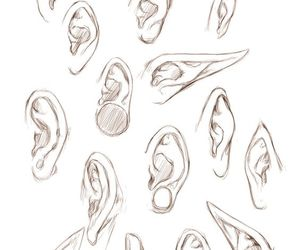 ear, draw, and drawing image