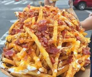 food, yummy, and bacon image