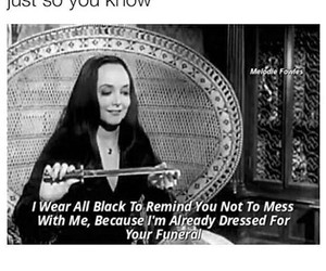 black, funny, and funeral image