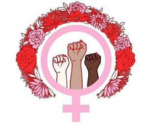 woman, feminism, and girl power image