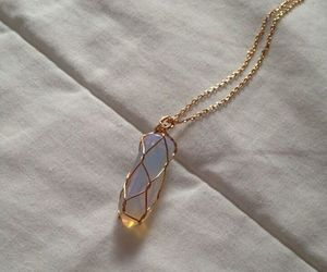 necklace, stone, and tumblr image