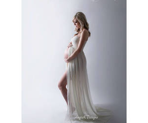 etsy, maternity dress, and maternity photoshoot image