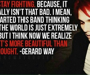 gerard way, quote, and my chemical romance image