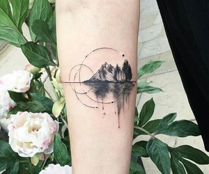 tattoo, mountains, and art image