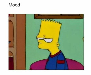 mood, bart, and simpsons image