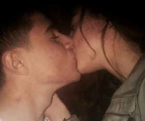 Besos, couple, and kiss image