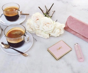 beauty, coffee, and pink image