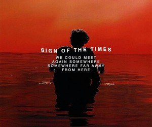 Harry Styles, sign of the times, and song image