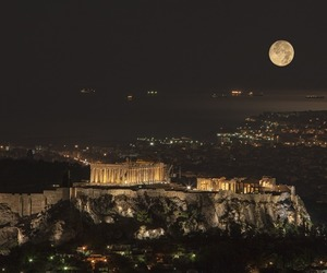 Athens, night, and city image