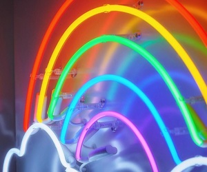 rainbow and neon image