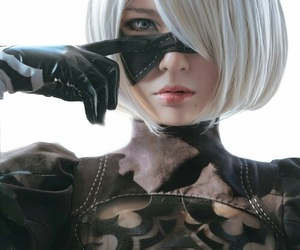 cosplay, nier automata, and video games image