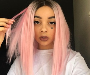 pink hair, hair color, and pastel hair image