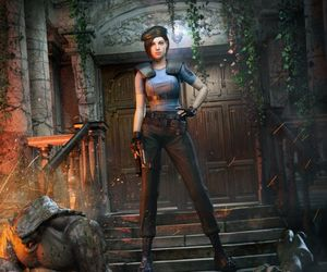 hunters, jill valentine, and mansion image