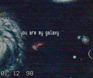 galaxy, grunge, and aesthetic image