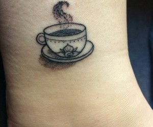 coffee, cup, and tattoo image
