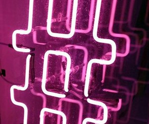 neon, pink, and hashtag image