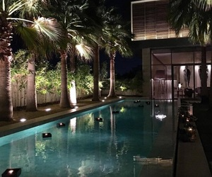 pool, luxury, and goals image