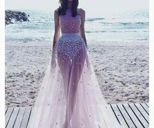 beautiful, dress, and pink image