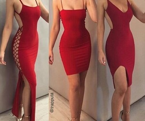 dresses, fashion, and red image