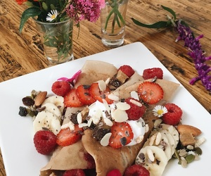 crepes, healthy, and pancakes image