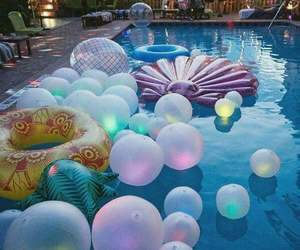 summer, pool, and party image