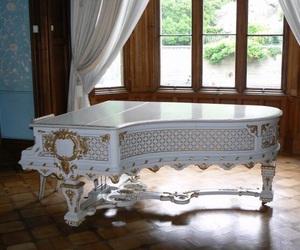 elegant, piano, and white image