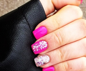 nails, gel, and glitter image