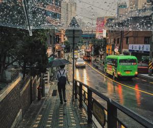 aesthetic, korea, and rain image