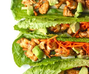 Chicken, thai, and lettuce image