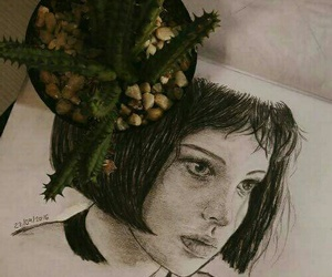 actress, drawing, and leon image