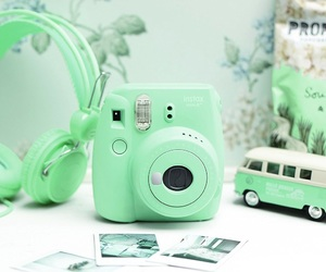 green, camera, and instax image