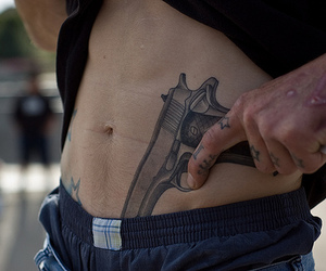 tattoo, gun, and boy image