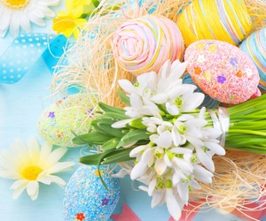 easter, egg, and flower image