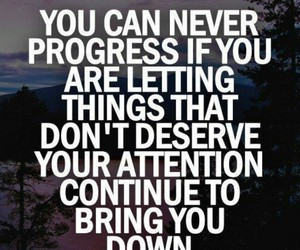 quote, progress, and motivation image