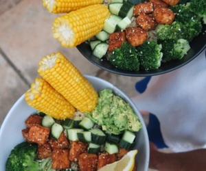 dinner, food, and vegetables image