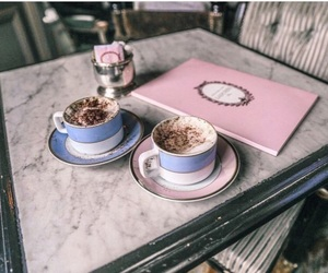 coffe, paris, and laduree image