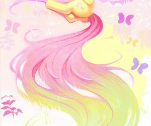 fluttershy, my little pony, and pink image