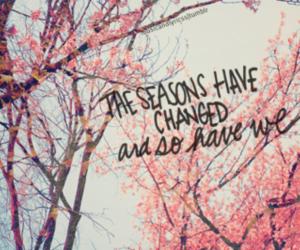 quote, season, and change image