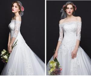 gowns, wedding, and dresses image