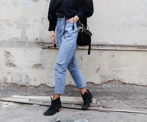 fashion, jeans, and street style image
