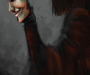 v for vendetta, mask, and wallpaper image
