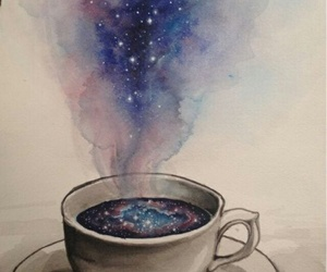 galaxy, coffee, and art image