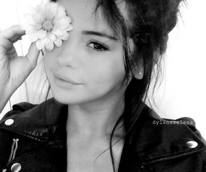 selena gomez, flowers, and makeup image